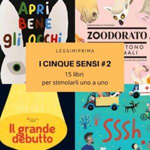 Read more about the article I cinque sensi: 15 libri per stimolarli uno a uno