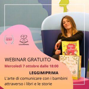 WEBINAR GRATUITO: Leggimiprima, l'arte di comunicare con i bambini attraverso i libri e le storie